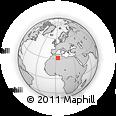 Outline Map of El Menia, rectangular outline