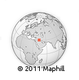 """Outline Map of the Area around 31° 11' 6"""" N, 43° 25' 29"""" E, rectangular outline"""