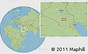 Savanna Style Location Map of Kazār Āl Badr