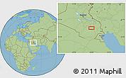 "Savanna Style Location Map of the area around 31°11'6""N,45°58'30""E"