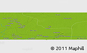"""Physical Panoramic Map of the area around 31°11'6""""N,46°49'30""""E"""