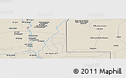 """Shaded Relief Panoramic Map of the area around 31°11'6""""N,47°40'29""""E"""