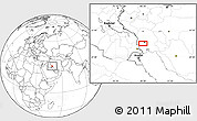 """Blank Location Map of the area around 31°11'6""""N,48°31'29""""E"""