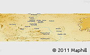 """Physical Panoramic Map of the area around 31°11'6""""N,4°10'30""""W"""