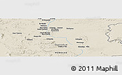 "Shaded Relief Panoramic Map of the area around 31° 11' 6"" N, 4° 10' 30"" W"