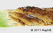 "Physical Panoramic Map of the area around 31° 11' 6"" N, 50° 13' 30"" E"