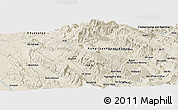 Shaded Relief Panoramic Map of Beheshtābād