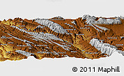 """Physical Panoramic Map of the area around 31°11'6""""N,51°4'30""""E"""