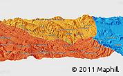 Political Panoramic Map of Bīdak