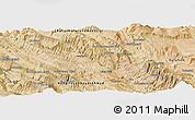 Satellite Panoramic Map of Bīdak
