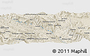 "Shaded Relief Panoramic Map of the area around 31° 11' 6"" N, 51° 4' 30"" E"