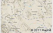 """Shaded Relief Map of the area around 31°11'6""""N,51°55'29""""E"""