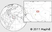 Blank Location Map of Seneh'ī