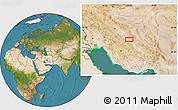 Satellite Location Map of Seneh'ī