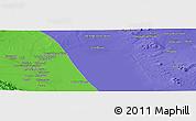 Political Panoramic Map of Seneh'ī