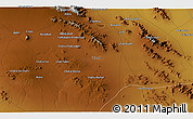 """Physical 3D Map of the area around 31°11'6""""N,54°28'30""""E"""
