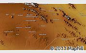 Physical 3D Map of -āleḩī