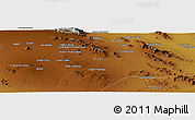 "Physical Panoramic Map of the area around 31° 11' 6"" N, 54° 28' 30"" E"