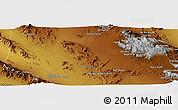 Physical Panoramic Map of Bāb-e `Abdān