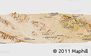Satellite Panoramic Map of Bāb-e `Abdān