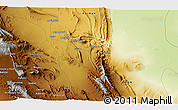 """Physical 3D Map of the area around 31°11'6""""N,57°1'29""""E"""