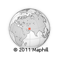 """Outline Map of the Area around 31° 11' 6"""" N, 58° 43' 30"""" E, rectangular outline"""