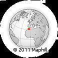 Outline Map of Tazoulaït, rectangular outline