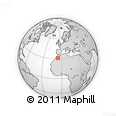 Outline Map of Zaouia Asfalene, rectangular outline