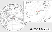 Blank Location Map of `Abd or Raḩmānzay