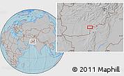 Gray Location Map of `Abd or Raḩmānzay, hill shading