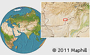 Satellite Location Map of `Abd or Raḩmānzay
