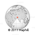 Outline Map of Marghah, rectangular outline