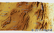 """Physical 3D Map of the area around 31°11'6""""N,69°46'30""""E"""