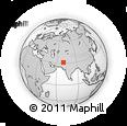 Outline Map of Bakshozai, rectangular outline