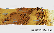 """Physical Panoramic Map of the area around 31°11'6""""N,69°46'30""""E"""