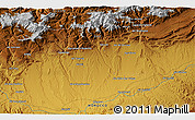 """Physical 3D Map of the area around 31°11'6""""N,6°43'29""""W"""