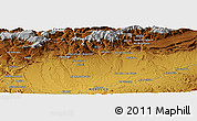 """Physical Panoramic Map of the area around 31°11'6""""N,6°43'29""""W"""