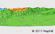 """Political Panoramic Map of the area around 31°11'6""""N,6°43'29""""W"""