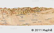 "Satellite Panoramic Map of the area around 31°11'6""N,6°43'29""W"