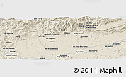 """Shaded Relief Panoramic Map of the area around 31°11'6""""N,6°43'29""""W"""