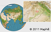 """Satellite Location Map of the area around 31°11'6""""N,71°28'29""""E"""