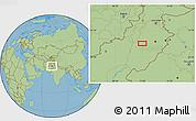 "Savanna Style Location Map of the area around 31°11'6""N,71°28'29""E"