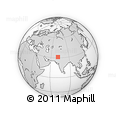 """Outline Map of the Area around 31° 11' 6"""" N, 71° 28' 29"""" E, rectangular outline"""