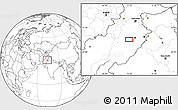 """Blank Location Map of the area around 31°11'6""""N,72°19'29""""E"""
