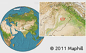 """Satellite Location Map of the area around 31°11'6""""N,72°19'29""""E"""