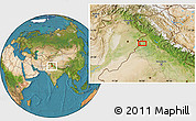 """Satellite Location Map of the area around 31°11'6""""N,74°52'30""""E"""