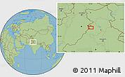 "Savanna Style Location Map of the area around 31°11'6""N,74°52'30""E"