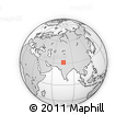 Outline Map of Jalandhar, rectangular outline