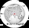 Outline Map of Rurki Khas, rectangular outline