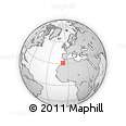 """Outline Map of the Area around 31° 11' 6"""" N, 7° 34' 30"""" W, rectangular outline"""